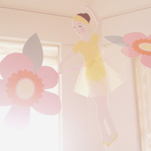 Ballerina banner and sunshine