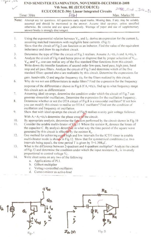 NSIT Question Papers 2008 – 5 Semester - End Sem - ECE-COE-ICE-304