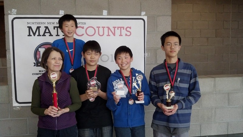 Los Alamos Middle School won the regional MathCounts competition.