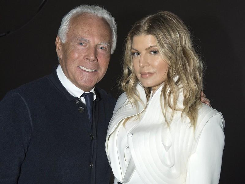 Giorgio Armani and Fergie