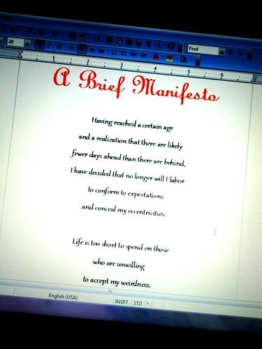 A brief manifesto