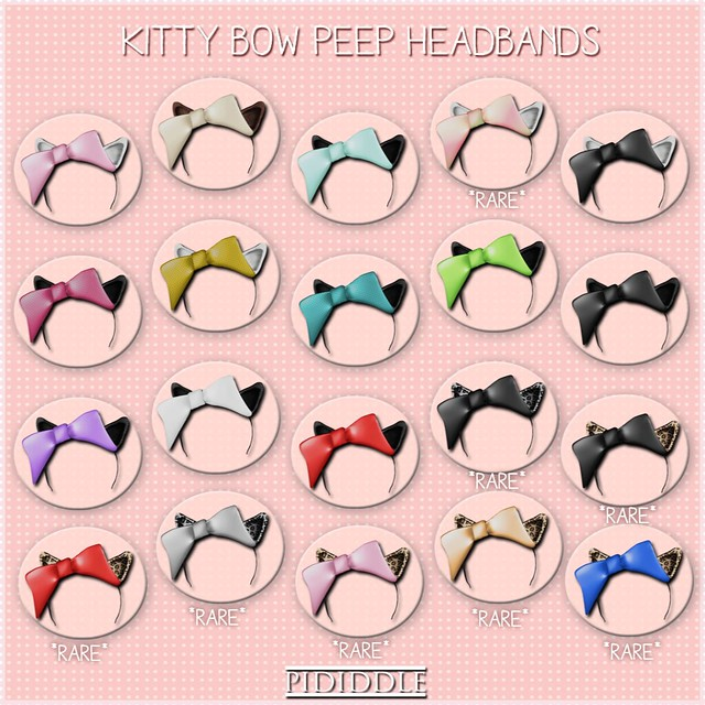 PIDIDDLE - Kitty Bow Peep Headbands - COLOR KEY