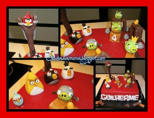 Detalhes Bolo Angry Birds II by Osbolosdasmanas