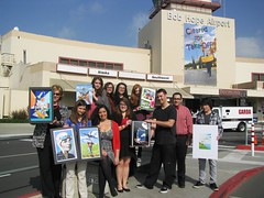 Photo: winners and finalists in the art competition