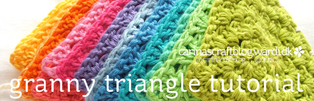 Crochet granny triangle tutorial