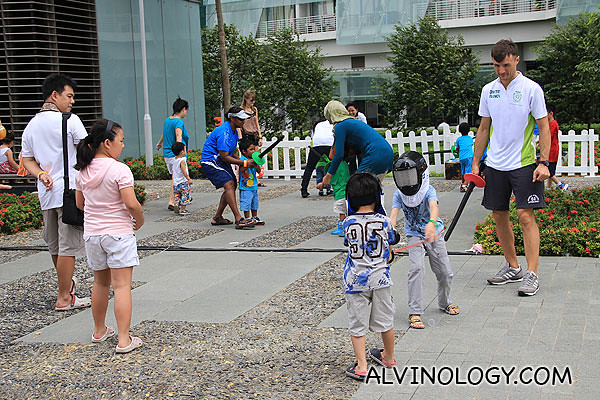 Fencing trial for kids