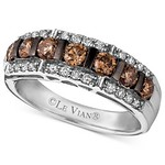 8544722898 dbff43ddb1 q Le Vian Diamond Ring, 14k White Gold Chocolate Diamond and White Diamond Band (1 1/6 ct. t.w.)