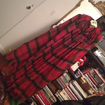 vintage plaid cape from tag sale in Melville