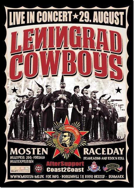 Leningrad Cowboys - Gigposter 2013 (Mosten Raceway, Denmark)