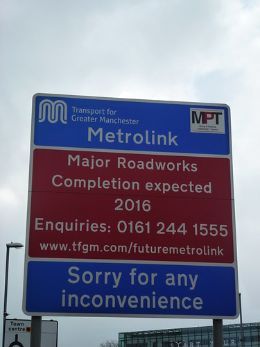 Metrolink Construction sign