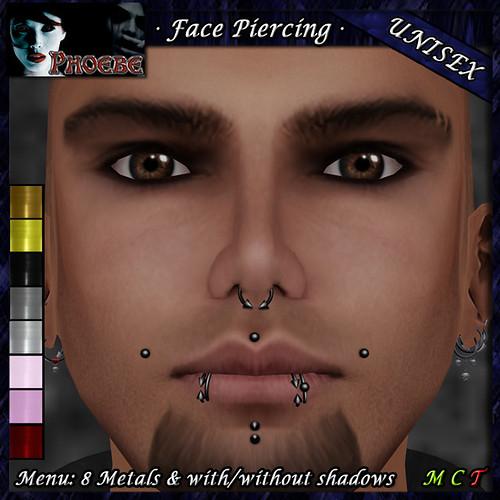 P Unisex Face Piercing P6 ~8 Metals~