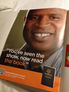 Mormon advert in Book of Mormon programme