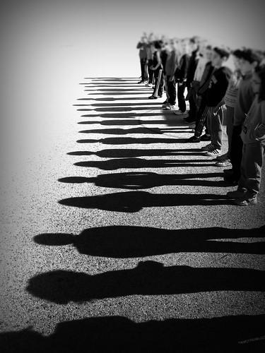 [免费图片素材] 人物, 集体, 影, 黑白色 ID:201303251800