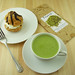 Small photo of Matcha Latte with Cream Puff