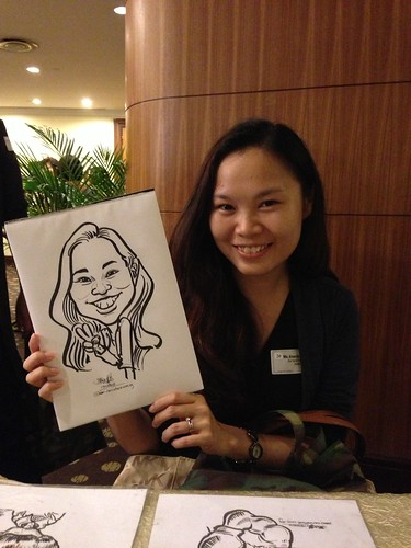 caricature live sketching for South West ComCare Local Network Anniversary Dinner cum ComCare Awards 2013 - i