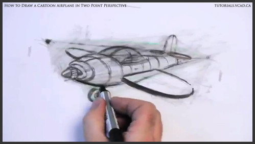 learn how to draw a cartoon airplane in two point perspective 037