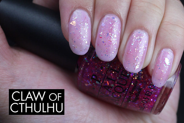 OPI I Lily Love You Swatch (over OPI Alpine Snow)