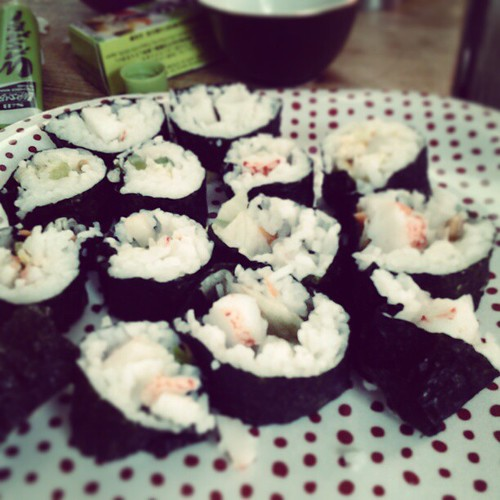 Sushi! My 1st time making this