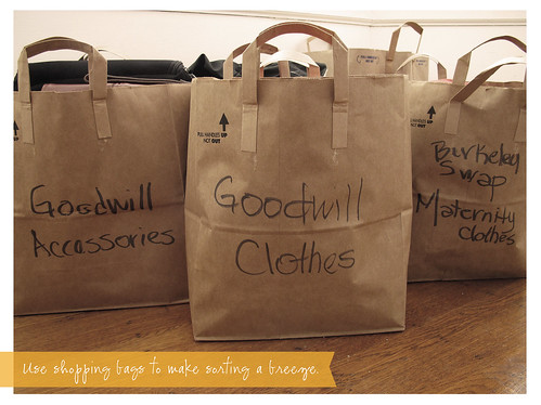 Sort Unwanted Items into Labeled Shopping Bags