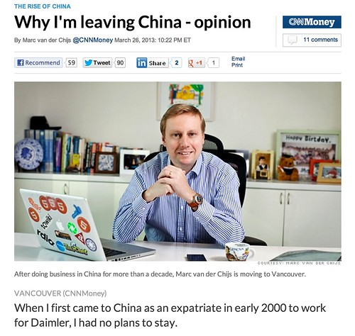 CNN article - why I'm leaving China