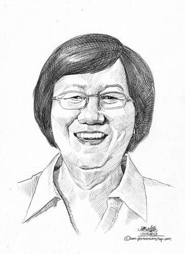 Pencil portrait for Chinese Swimming Club Dr Ng Keck Sim - 19