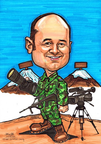 Australia Army Photographer caricature
