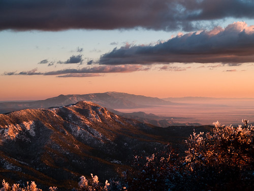 sunset snow mountains newmexico albuquerque sandia
