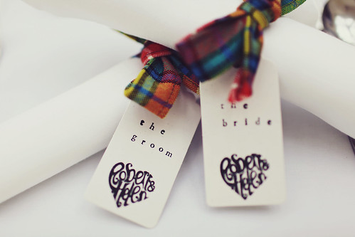 Hand stamped place settings
