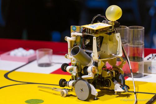 Concours robotique épreuve du ballon