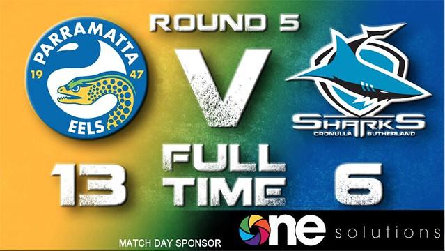 Eels Win v Cronulla Sharks
