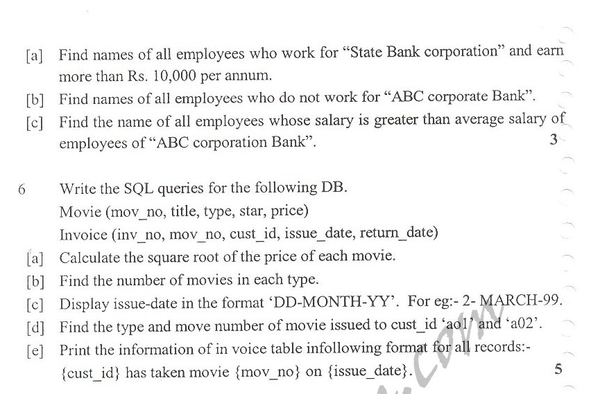 DTU Question Papers 2010 – 5 Semester - Mid Sem - IT-304
