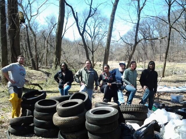 Cleaning up Tacony Creek Park