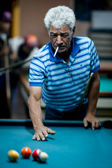Smoking Man, Pool Hall