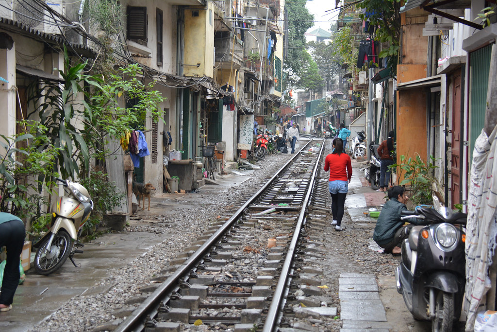 By the train tracks, Hanoi