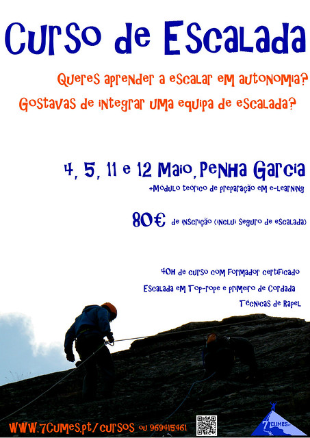 poster escalada maio Penha Garcia