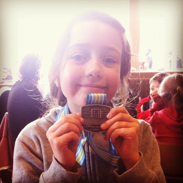 My mini-marathoner #soproud