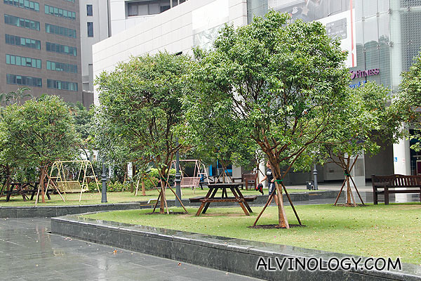 There were many swings and benches of yesteryears for people working in the CBD to get a brief escape into nostalgia