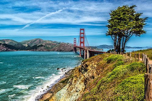 Golden Gate Bridge and the Pacific by joeeisner