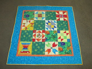 Blogger BOM Baby Quilt with Frogs