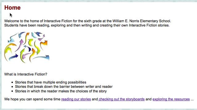 norris interactive fiction site