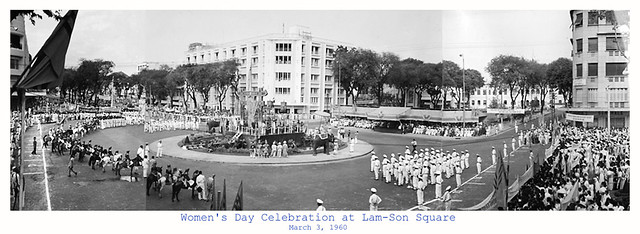 Saigon 1960 - Women's Day Celebration at Lam-Son Square