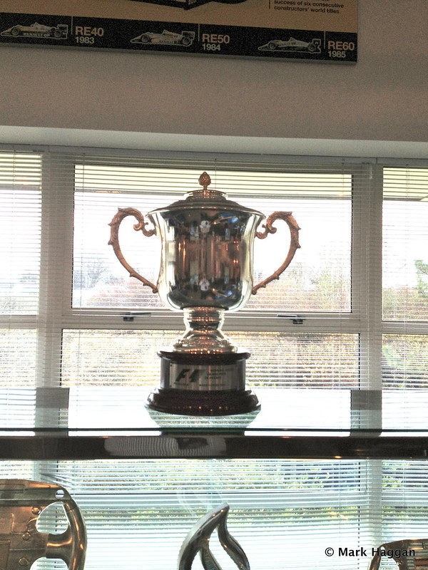 A trophy at Lotus F1 Headquarters