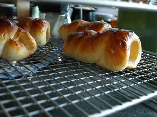 Cornets of japanese milk bread