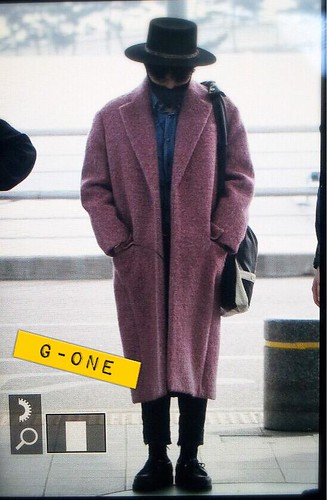 Big Bang - Incheon Airport - 21mar2015 - G-Dragon - G-One - 02