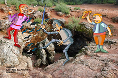 Don Quijote en la cueva de Montesinos