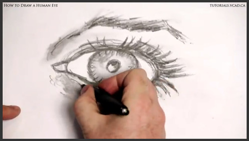 learn how to draw a human eye 021