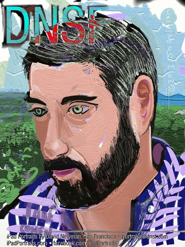 iPad Portrait of Jake Cohen Working at 500 Startups in Silicon Valley Today by DNSF David Newman
