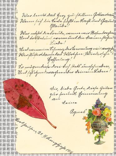 Poesiealbum 1916 Kriegsjahr Erinnerung Glaube Liebe Hoffnung Kurrentschrift