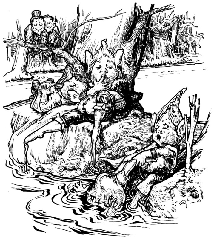 Archie MacGregor - Illustration from page 78 of Butterscotia or A Cheap Trip to Fairyland by Sir Edward Abbott Parry, 1896