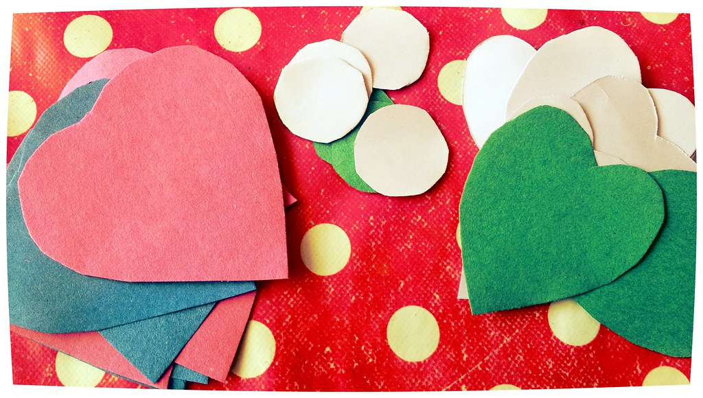 Love bird shape craft